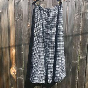 Vintage 90s button-down maxi skirt